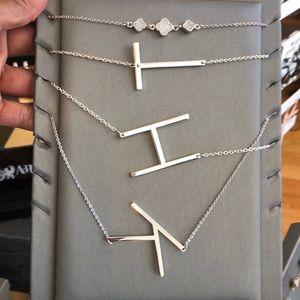 Jewelry - Initial  Silvertone necklace
